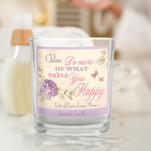 Personalised Secret Garden Scented Jar Candle